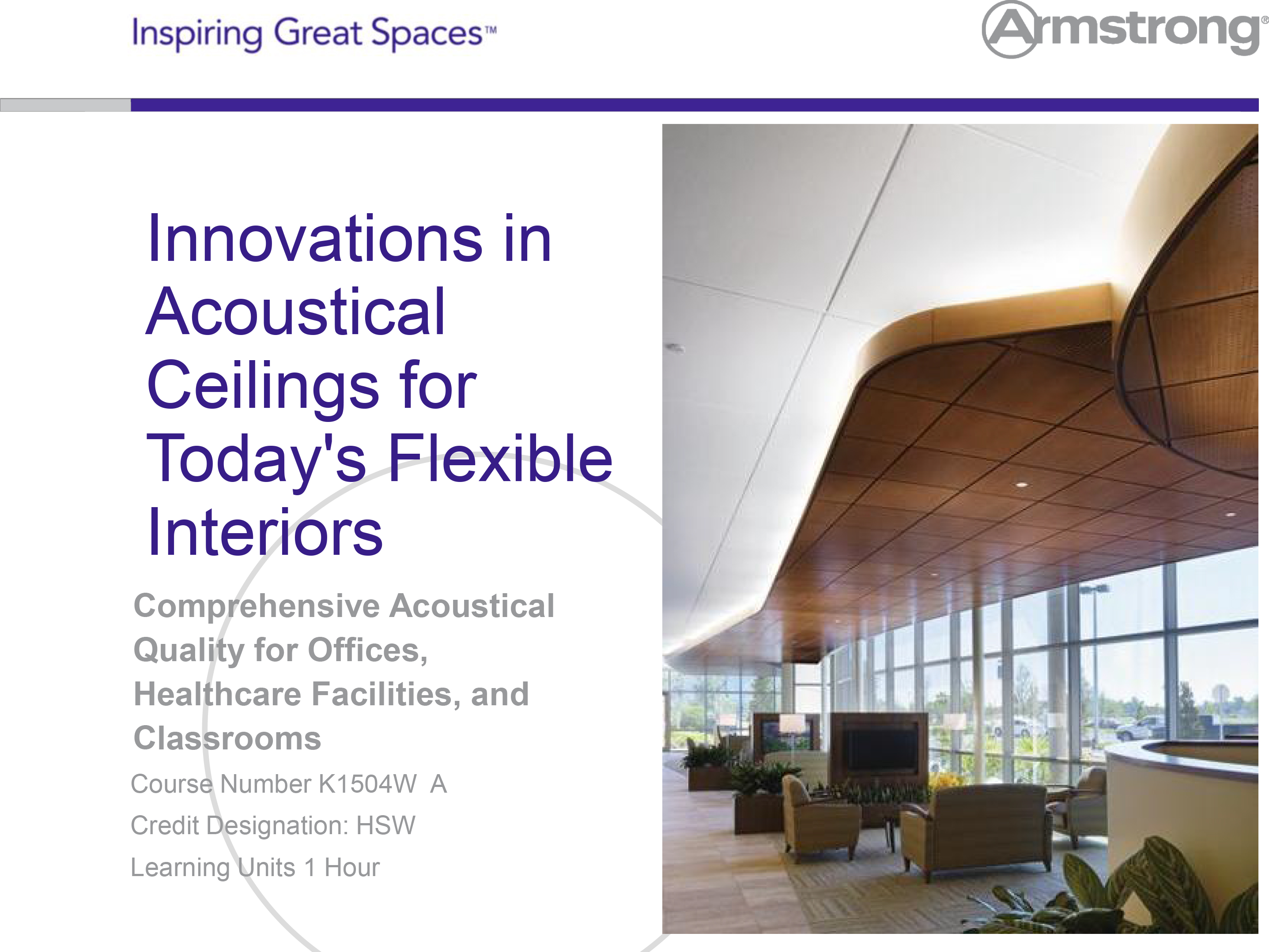 Innovations In Acoustical Ceilings