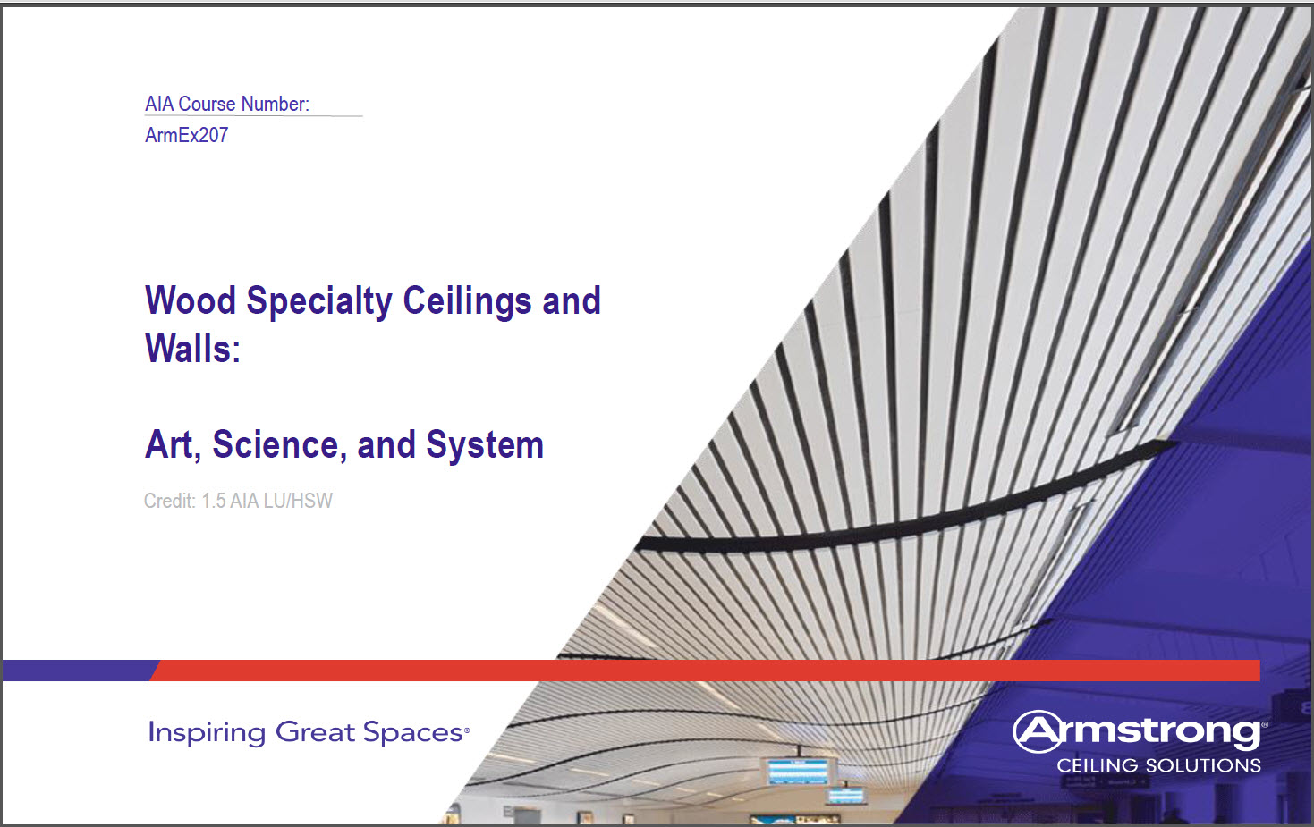 Wood Specialty Ceilings and Walls CEU Course Cover