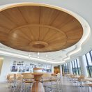 New WoodWorks Torsion Spring Ceiling System from Armstrong Offers Monolithic Look Plus Plenum Access