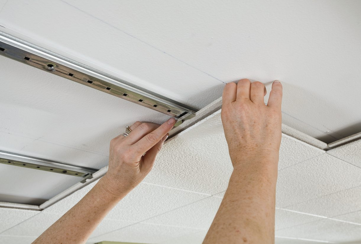 Drop down ceiling armstrong ceilings residential ceiling tile installation comparing your options dailygadgetfo Images