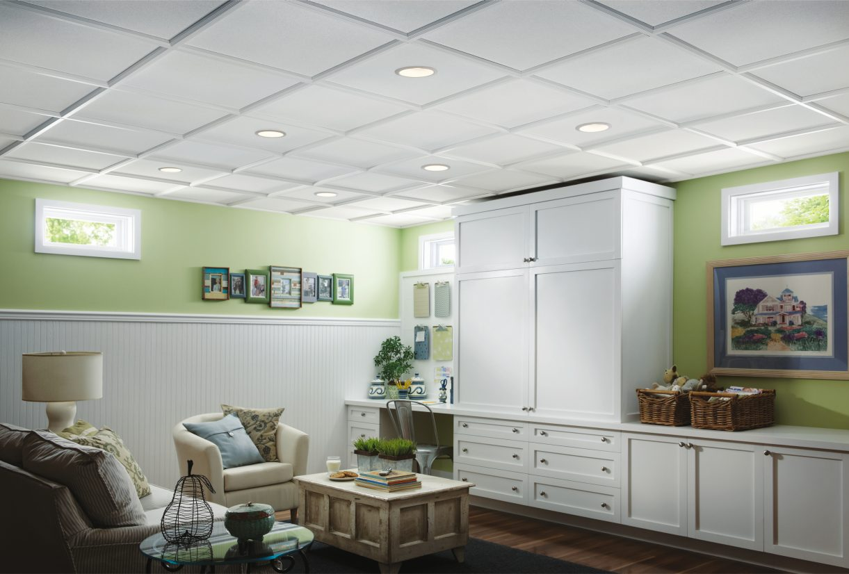 Stylestix ceiling grid covers armstrong ceilings residential for Armstrong design a room