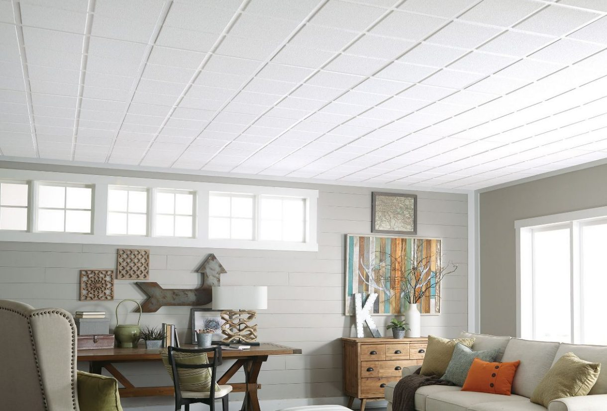 Drop ceiling update armstrong ceilings residential sahara scored i dailygadgetfo Gallery