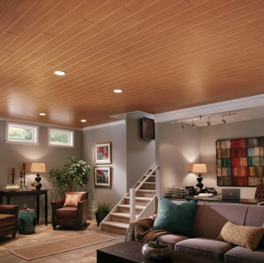 Old Grid, Beautiful Wood Look Drop Ceiling