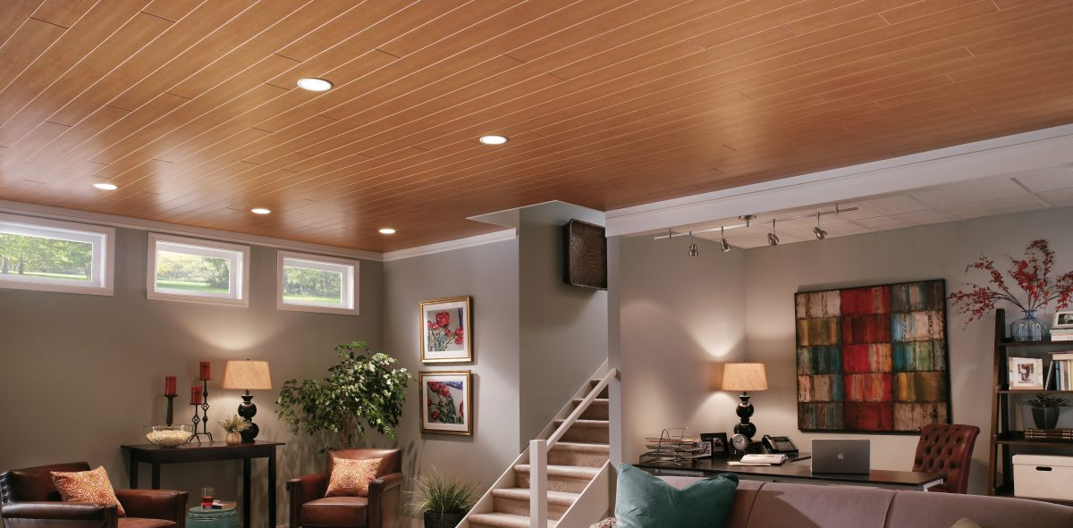 Old Grid Beautiful Wood Look Drop Ceiling