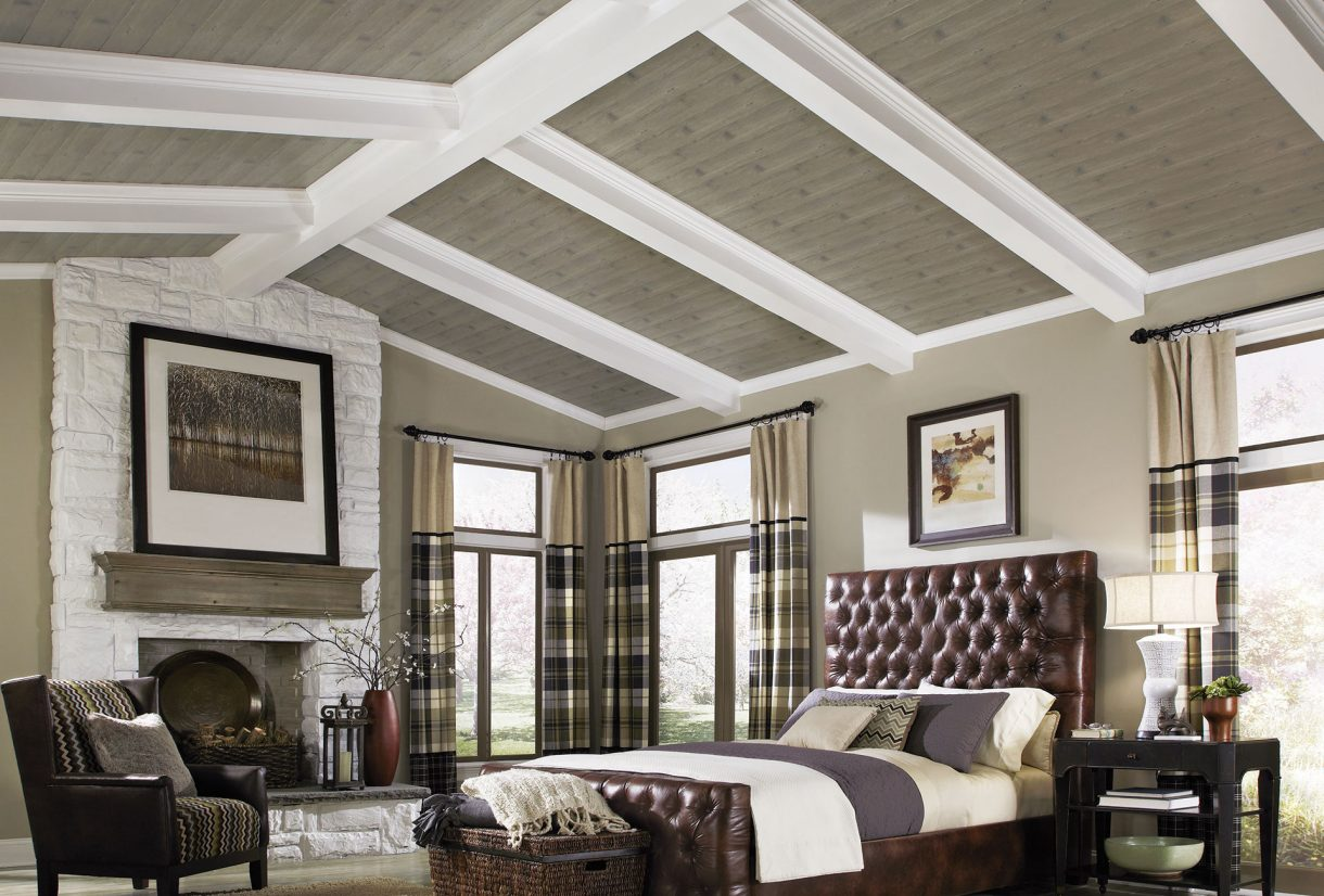 Vaulted ceiling design armstrong ceilings residential for Coffered cathedral ceiling
