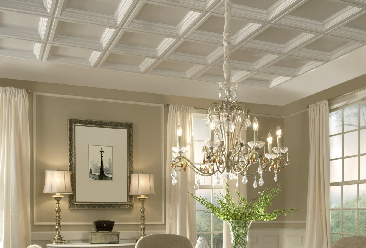 Pvc ceiling tiles armstrong ceilings residential for Ceiling styles ideas