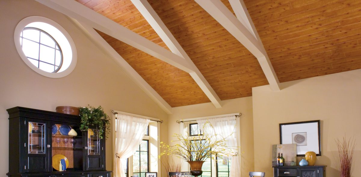 Cathedral ceilings for Half vaulted ceiling with beams