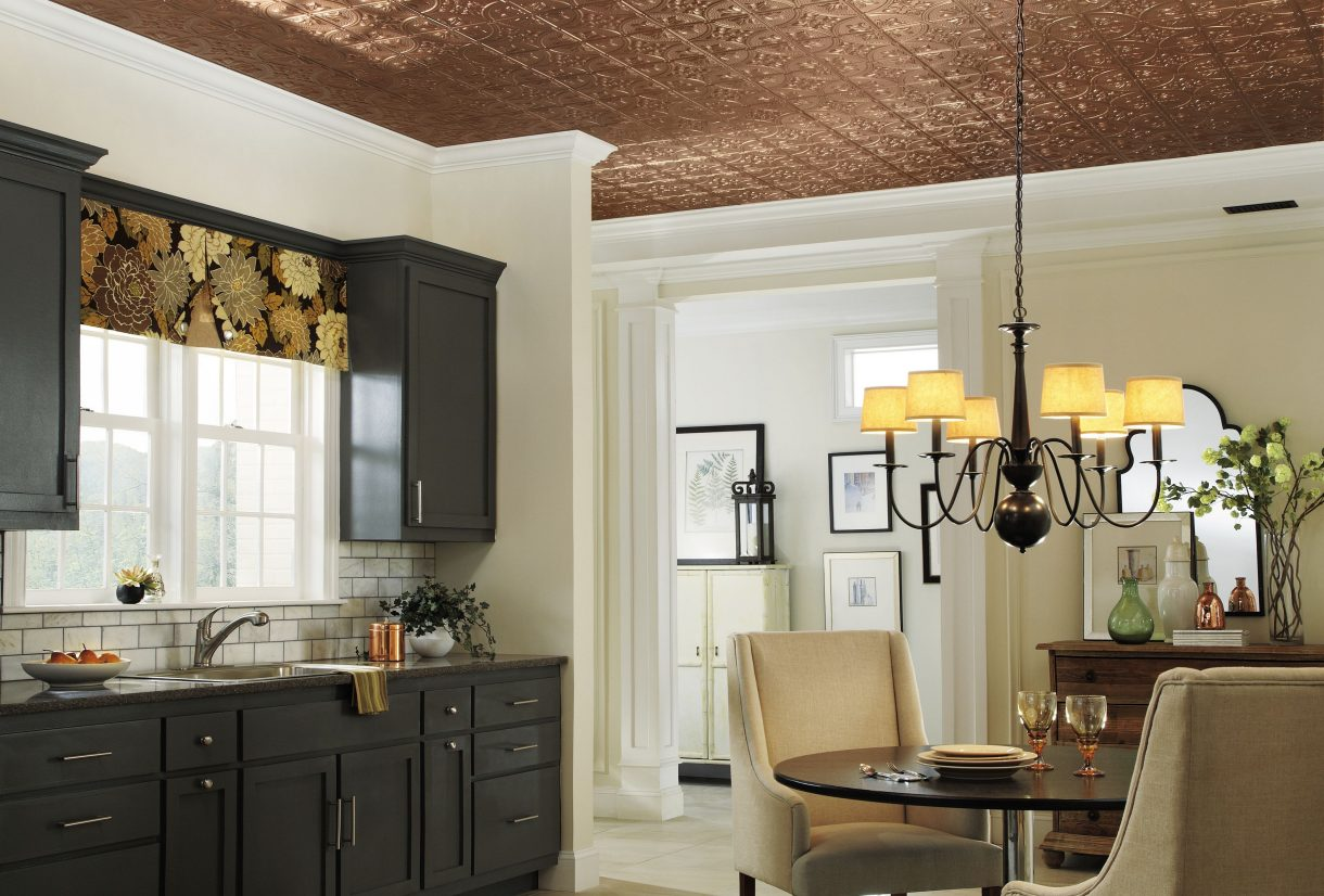 Copper ceiling look armstrong ceilings residential featured media image dailygadgetfo Gallery