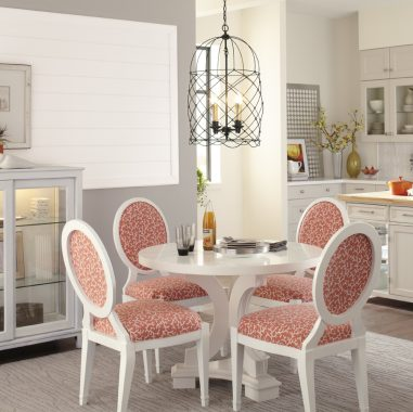 White and Coral Dine-in Kitchen