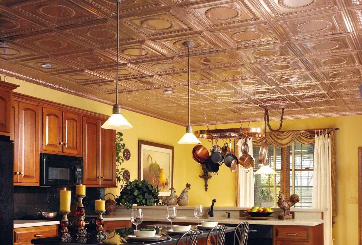Copper ceiling look armstrong ceilings residential featured media image dailygadgetfo Image collections