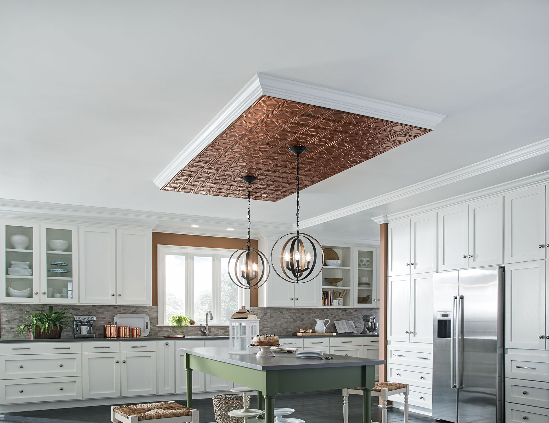 Pretty 12 X 24 Floor Tile Small 2 X 6 Subway Tile Solid 2X2 Ceramic Floor Tile 4X4 Tile Backsplash Old 4X4 White Ceramic Tile Black6 X 12 Ceramic Tile Copper Ceiling Look | Armstrong Ceilings Residential