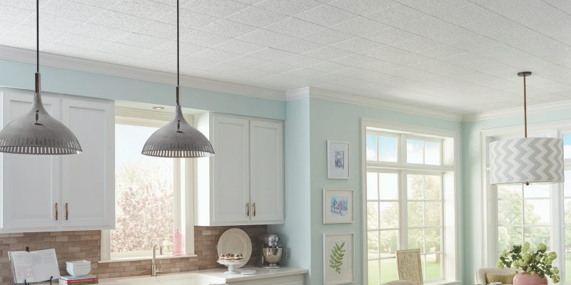 Knock Down Texture Ceiling In A Kitchen