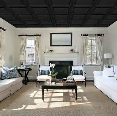 Coffered Look Plastic Ceiling Tiles