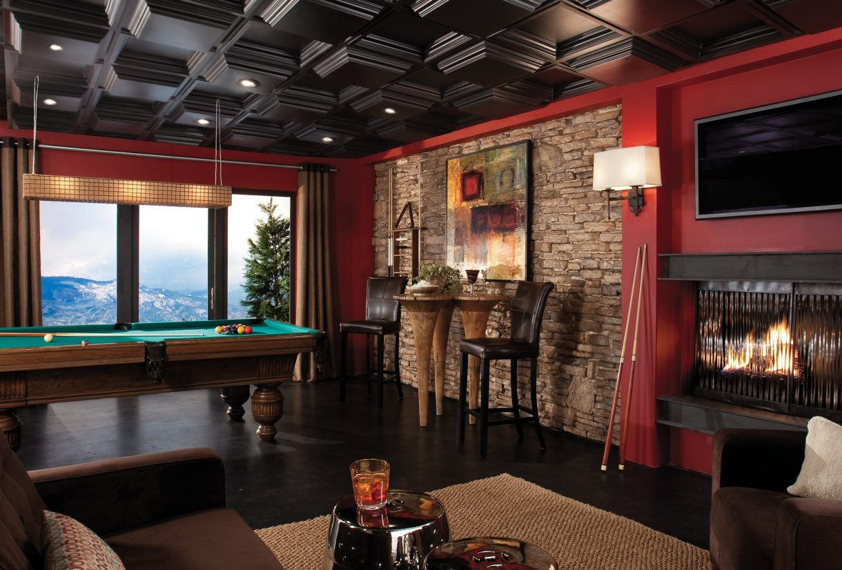 Black ceiling tiles armstrong ceilings residential easy elegance deep coffer in black doublecrazyfo Choice Image