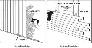 Vertical or Horizontal Wall Installation