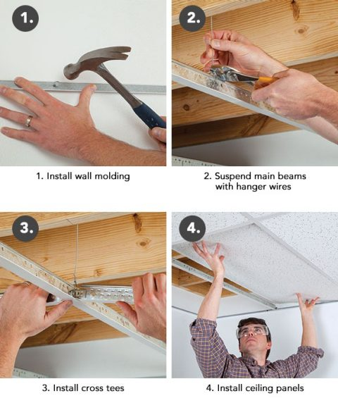 Hang A Drop Ceiling In 4 Steps
