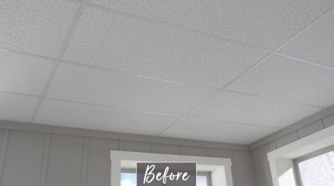Before Old Drop Ceiling