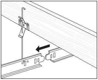 Hang first main beam with hanger wire