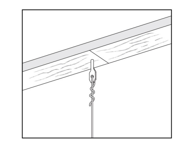 Install Fasteners And Hanger Wire